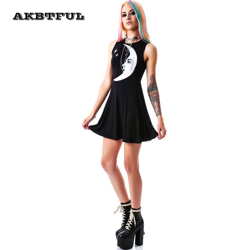 Robe noire rock chic