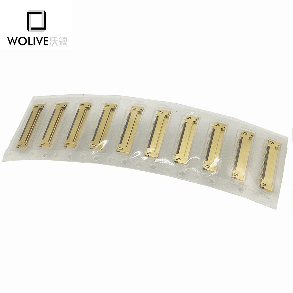Wolive 10pieces Brand new I-PEX LCD LED LVDS Cable Connector For Macbook Pro 13'' A1278 A1342 2008-2012 30 pins 5 pieces new lcd led lvds screen cable 923 0281 for imac 21 5 a1418 late 2012 early 2013 display 2k