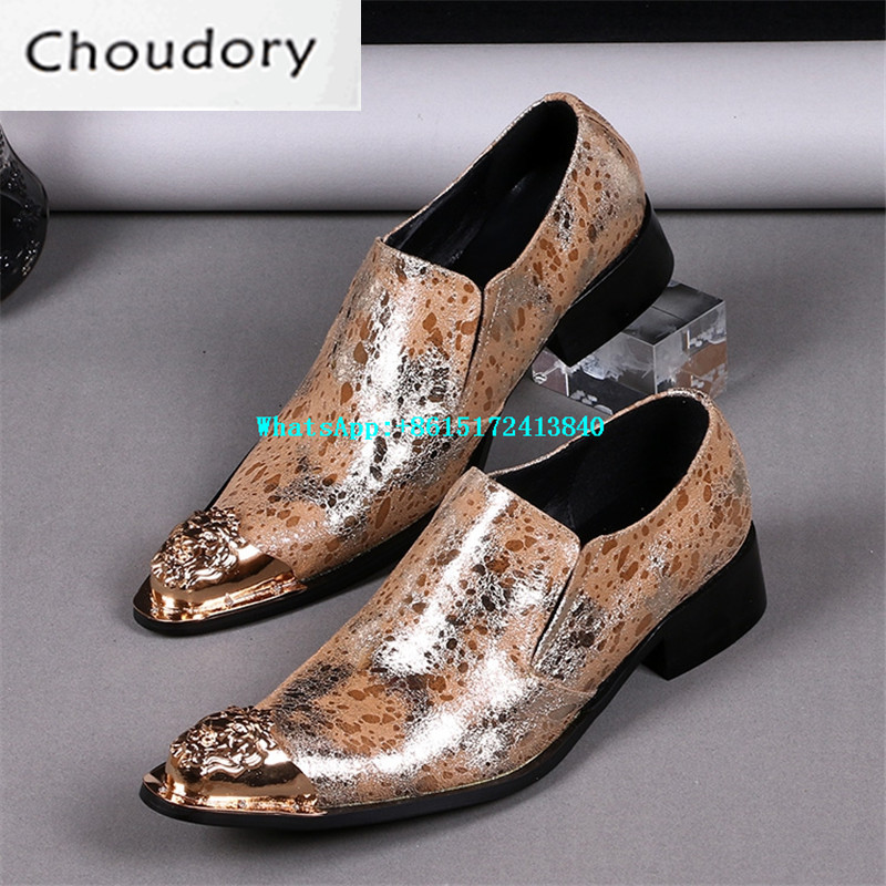 Choudory Fluorescent Light Mixed Colors Men Casual Shoes Pointed Toe Breathable Med Heels New Designer Steel Toe Work Shoes Men