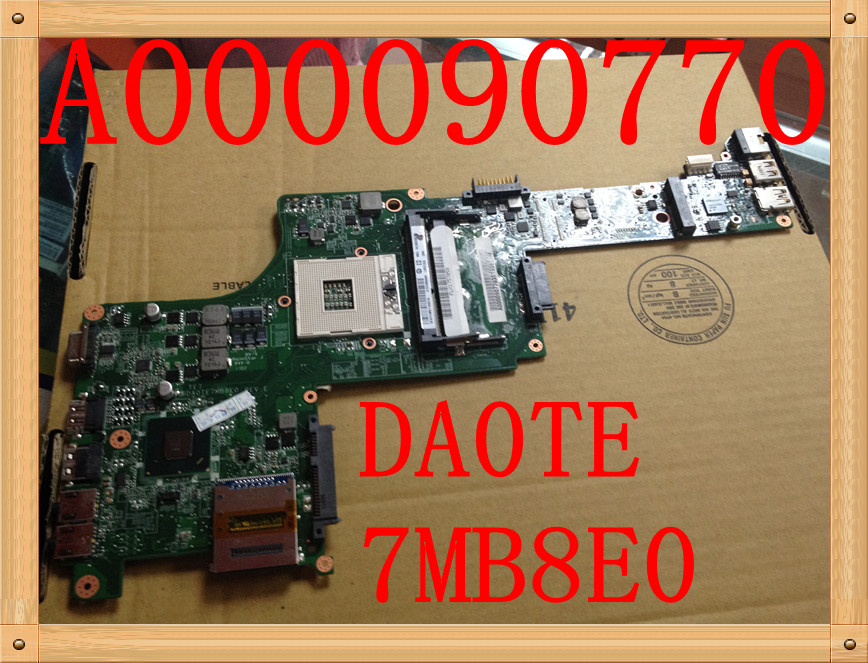 Original FOR Toshiba Satellite E300 E305 Laptop Motherboard s989 A000090770 DA0TE7MB8E0 fully tested стиральная машина lg f80b8ld0 стиральная машина