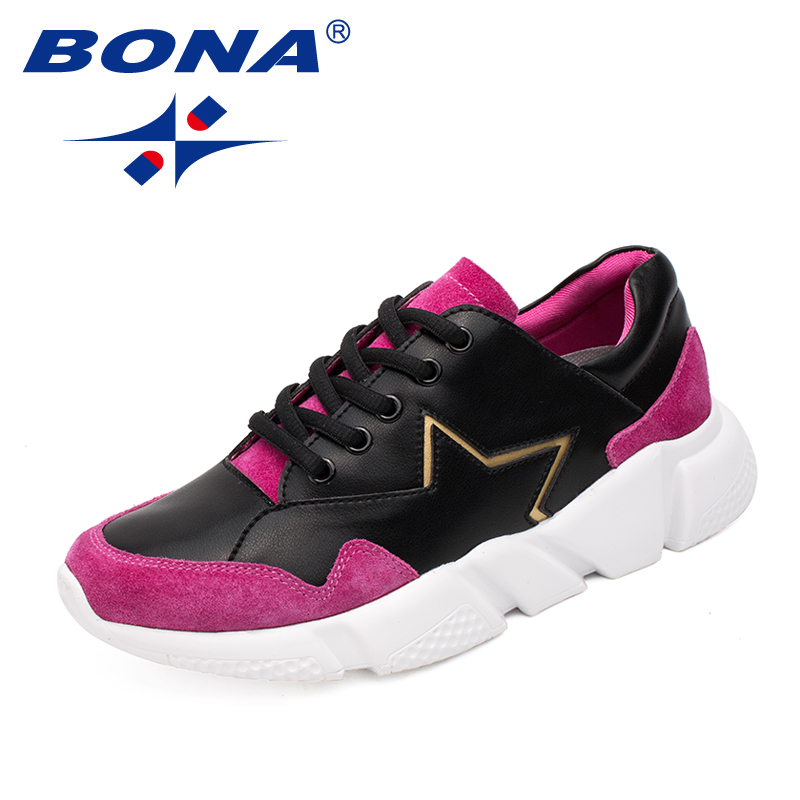 BONA New Classics Style Women Running Shoes Lace Up Lady Athletic Shoes Outdoor Jogging Sneakers Comfortable Fast Free Shipping