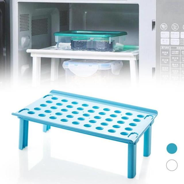 1PC Foldable Household multifunction microwave steaming rack folding ...