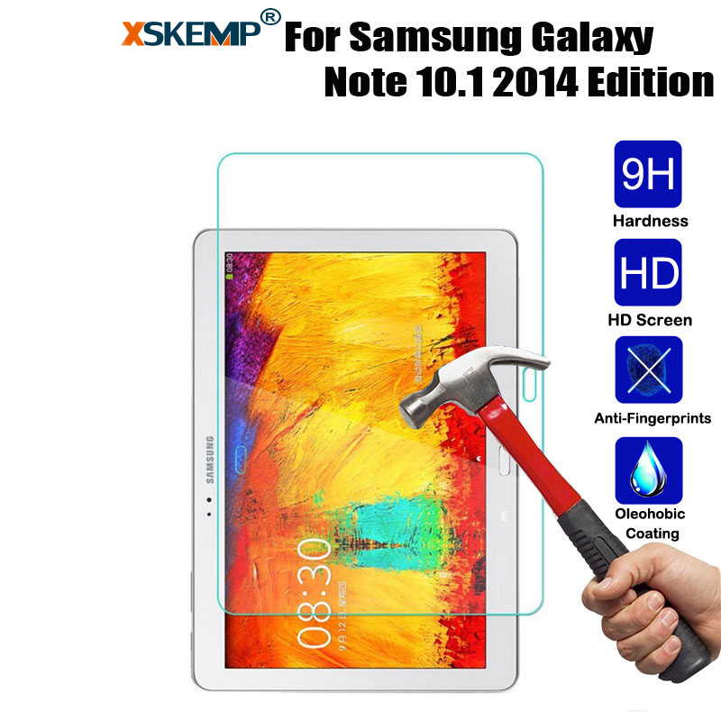 цена на XSKEMP Tablet Tempered Glass Protective Film For Samsung P600\Galaxy Note 10.1 2014 Edition 9H Explosion-Proof Screen Protector