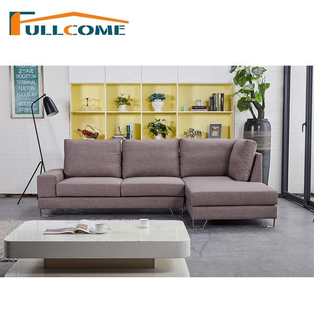 Scandinavian Living Room Furniture Grey Tartan Carpet China Luxury Home Modern Fabric Sofa Set Feather Italian Corner Sectional Sofas