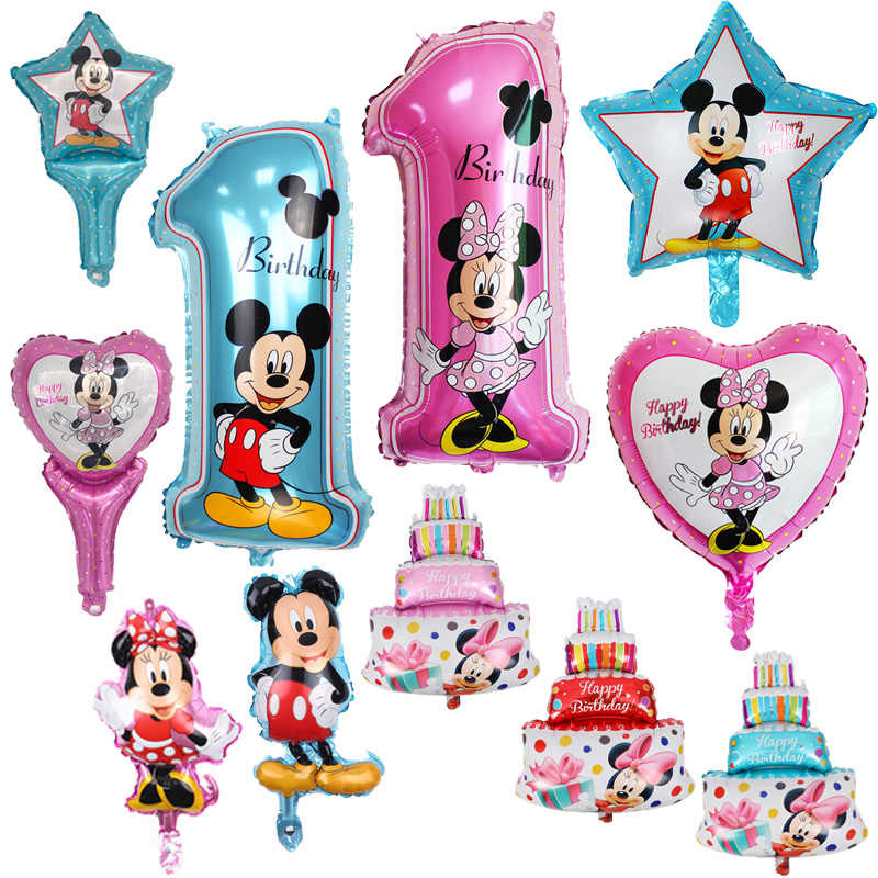 1psc/הרבה כל סגנון מיקי מיני בלון הליום אוויר בלון יום הולדת מסיבת בלוני עבור תינוק יום הולדת קישוט אספקת Globos