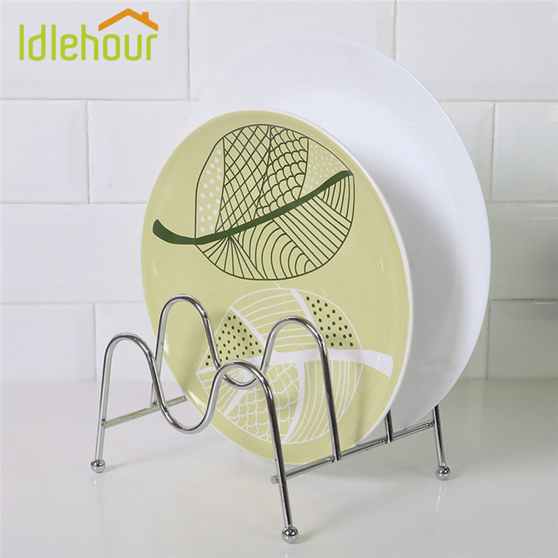 Kitchen Shelf Pan Rack Cutting Board Holder Storage Pot Lid Organizer Stands Tapas Cover ...