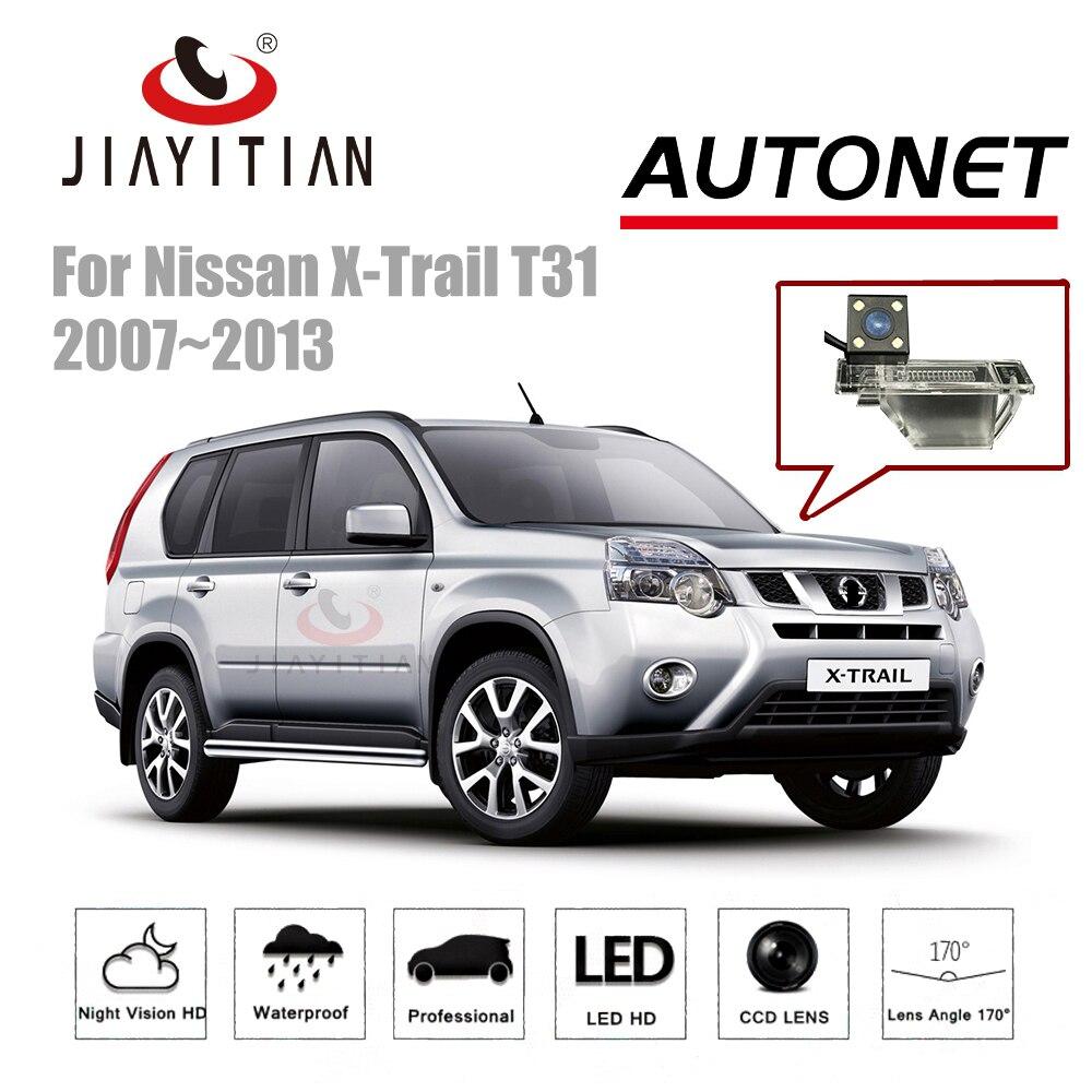 JIAYTIAN Arrière Vue caméra Pour Nissan X-trail X Trail T31 2007-2013 CCD Caméra de recul Parking Nuit vision caméra de plaque d'immatriculation