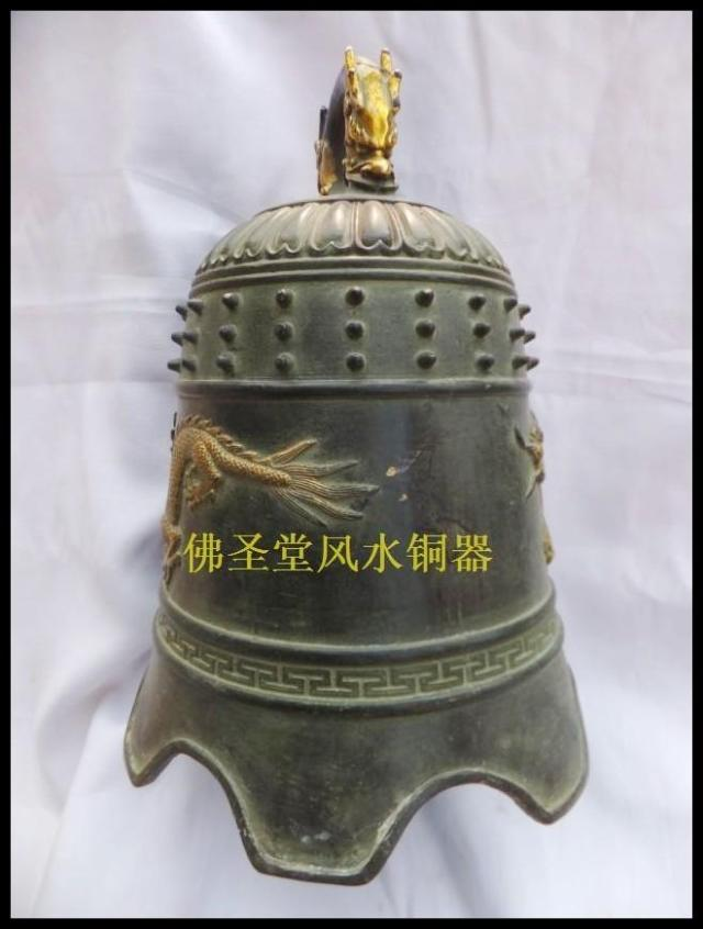 Bronze statue copper crafts decoration tongzhong antique bronze bell Large big