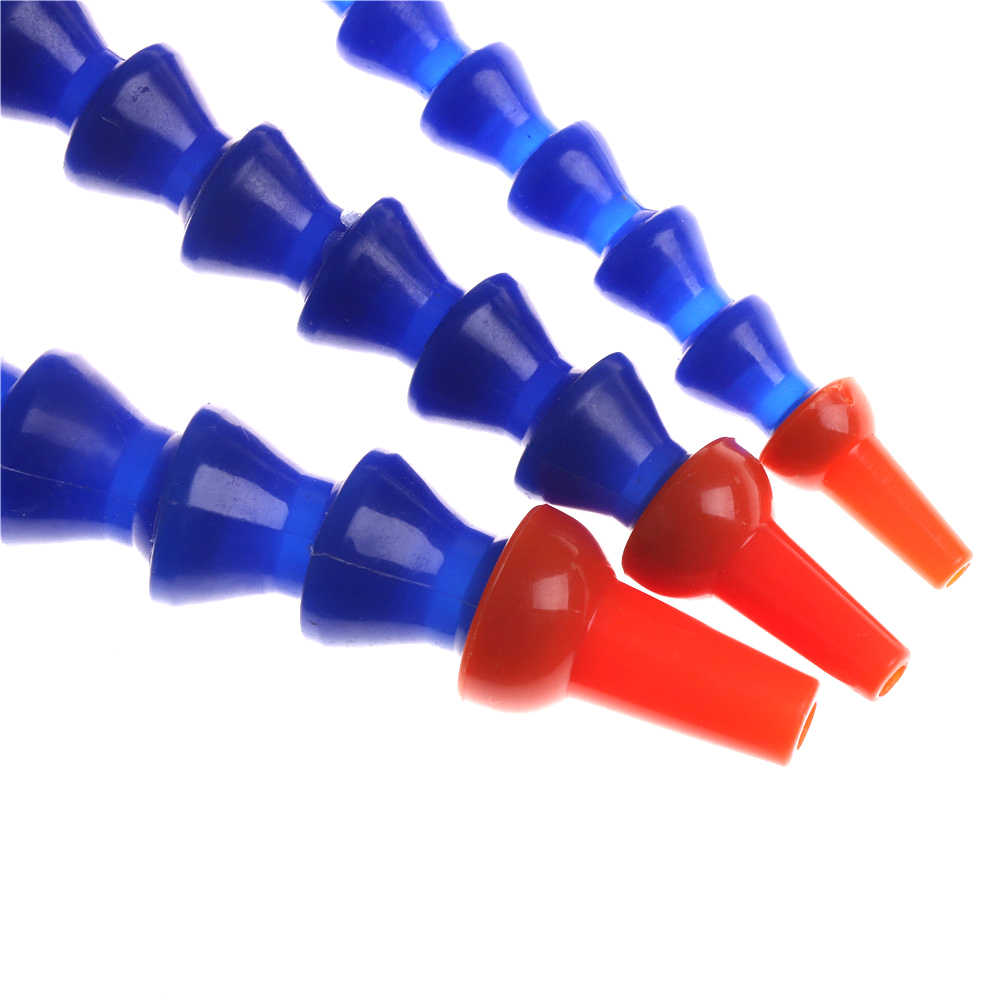 """Azul em Torno do Bocal De Refrigeração De Água Flexível Óleo Refrigerante Mangueiras De Plástico de 1/4 ''3/8"""" 1/2 """"Luz Máquina De Óleo de Bambu tubos de refrigeração 300 milímetros"""