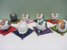 8PCS/Pack Japanese Amine Natsume's Book of Friends Yuujinchou Takashi's Cat Teacher 3cm PVC Action Figure Toys Gifts