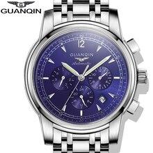 Relogio masculino Relojes Mecánicos Automáticos de Los Hombres de Primeras Marcas de Lujo GUANQIN Acero Inoxidable Impermeable Militar Reloj Del Deporte