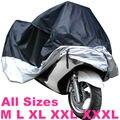 Все размеры Черный Серебристый Цвет Крышки Мотоцикла Водонепроницаемый Открытый УФ/Пыль Протектор Дождь Пылезащитный Чехол для Мотоцикла Скутер