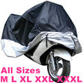 All size Black Silver Color Motorcycle Cover Waterproof Outdoor UV/Dust Protector Rain Dustproof Cover for Motorcycle Scooter