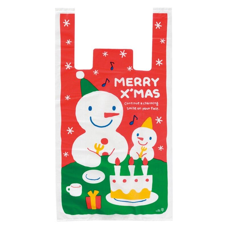 Прямая продажа с фабрики Новый 30 шт./лот Рождество Пластик сумки бутик подарочная упаковка сумка с ручкой сверху Мода
