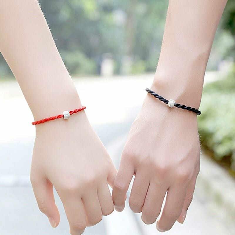 1 szt czerwony czarny łańcuch liny i Link bransoletki moda szczęście czerwony czarny ręcznie liny bransoletki dla kobiet mężczyzn miłośników budować