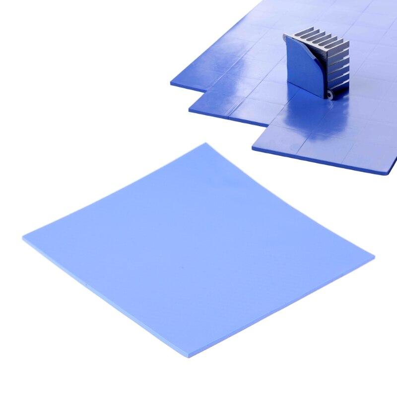 100x100x2mm CPU Thermal Pad Heatsink Cooling Conductive Silicone Pad July Drop ship 6