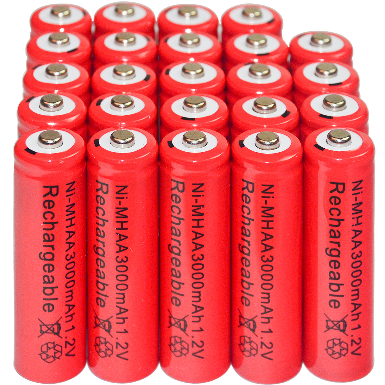 4/8/16/24/32/44pcs AA Ni-Mh 3000mAh 1.2V Rechargeable Battery Red Color Alarm Clock MP3 RC Toys Led Flashlight