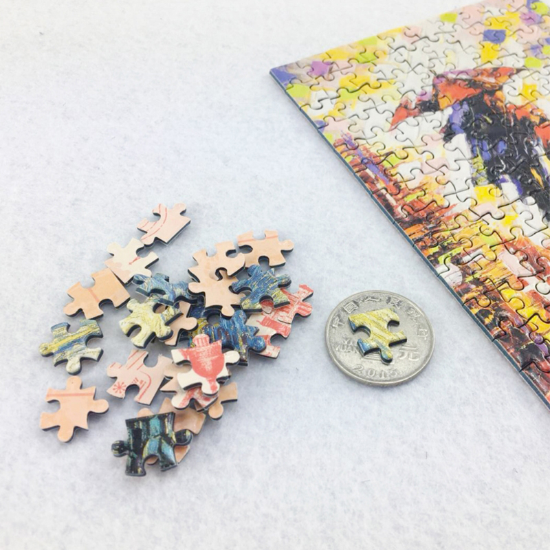 MOMEMO Big Fish Mini Paper 150 Pieces Tube Jigsaw Puzzles Adults Animal Puzzle Brain Teaser Assemble Toys with Photo Frame Gift in Puzzles from Toys Hobbies