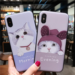 for iPhone 7 Case 3D Cartoon Cat Ear Capinha Case iphone 6Plus Silicone Soft TPU for iPhone x 6 7 8 plus 3