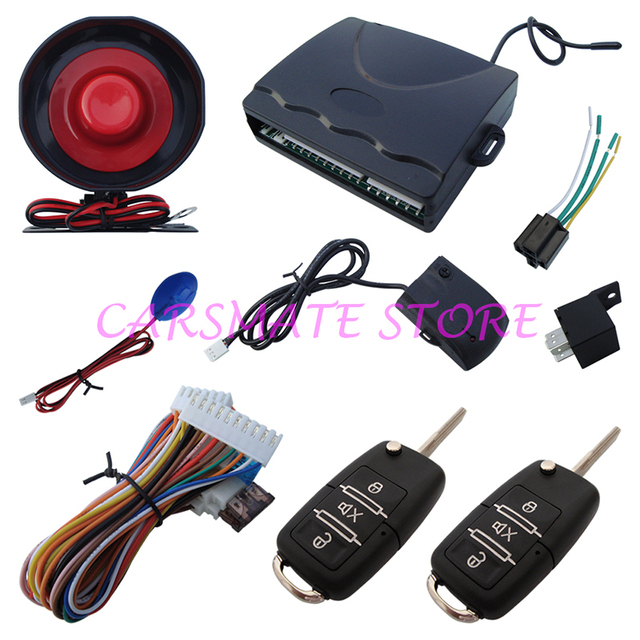 Cheap 1 Way Car Alarm System Remote Central Lock With Flip Key Many Blank Keys Are Selectable Fast Shipping In 24 Hours Carsmate