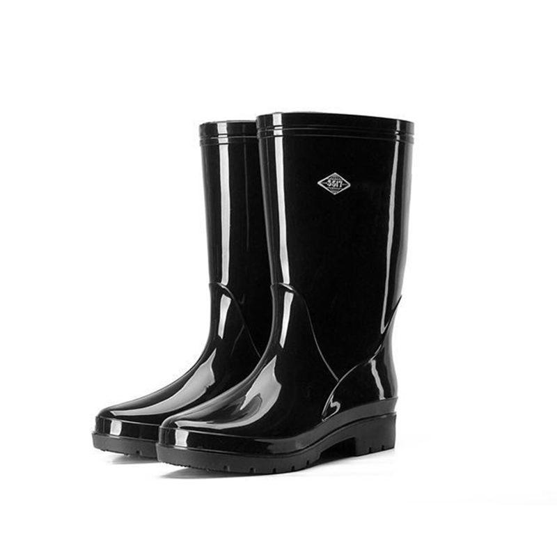 Saut en hauteur 28 CM hauteur femmes pêche cuissardes PVC imperméable jour pluvieux pêche bottes chaussures intégralement moulé femmes pêche cuissardes