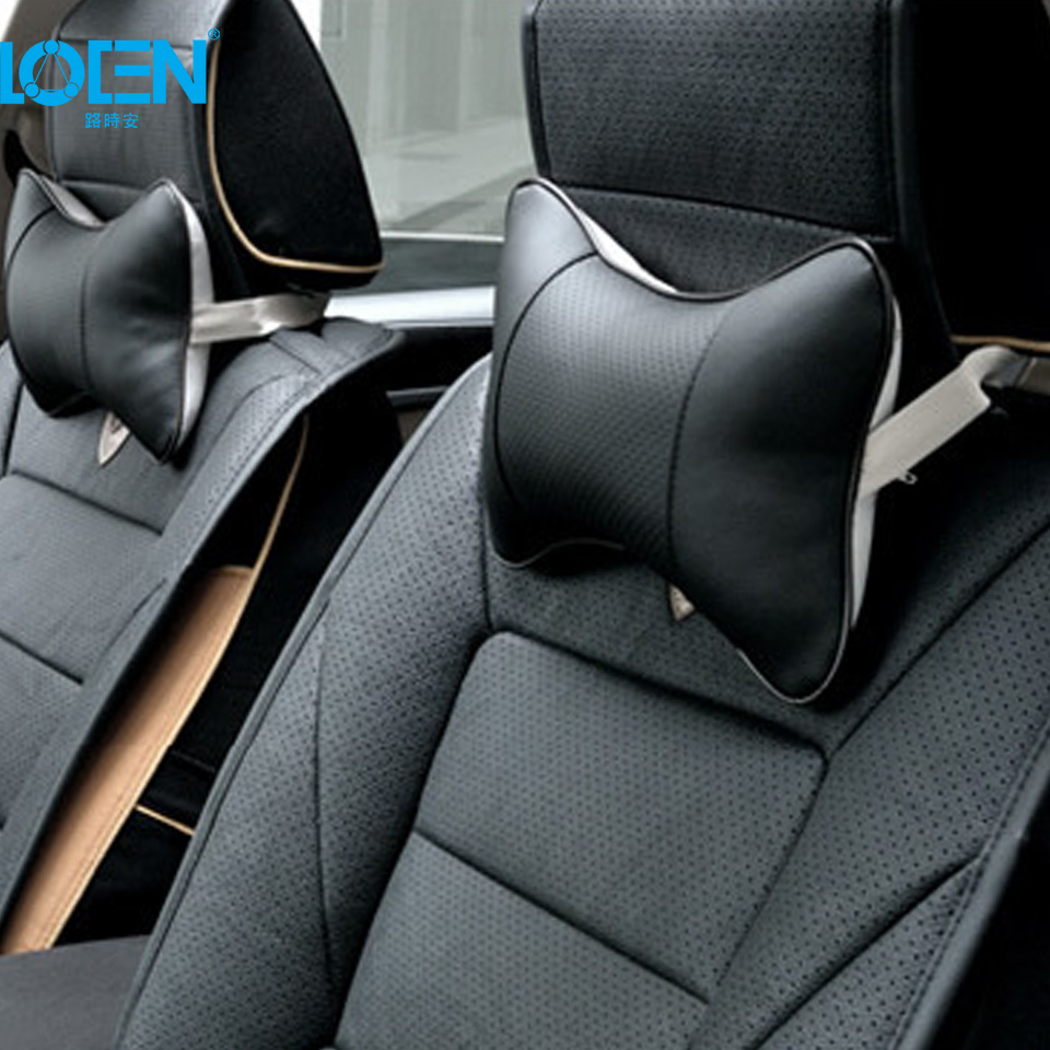 loen-1-piece-car-neck-pillow-car-headrest-pillow-perforating-design-pu-leather-hole-digging-auto-safety-accessories-for-bmw-all