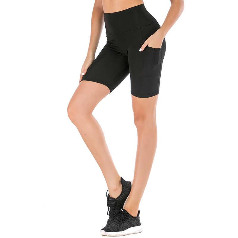 ATHVOTAR High Waist Spandex Shorts Women Yoga Workout Shorts with Pockets