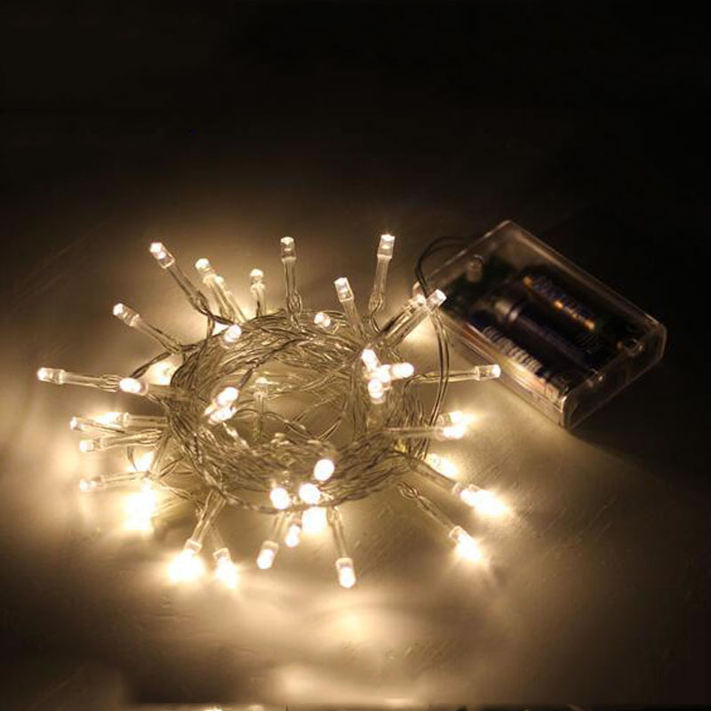 f0e2cc9b99 Battery Powered Led String Light 2M 3M 4M 5M 10M 3 AA Battery Operated  Garland Outdoor Indoor Home Christmas Decoration Light - velboxx Review