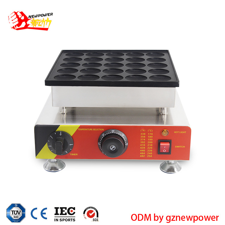 110V-220V commercial waffle oven 25-hole muffin machine 800W waffle maker English manual