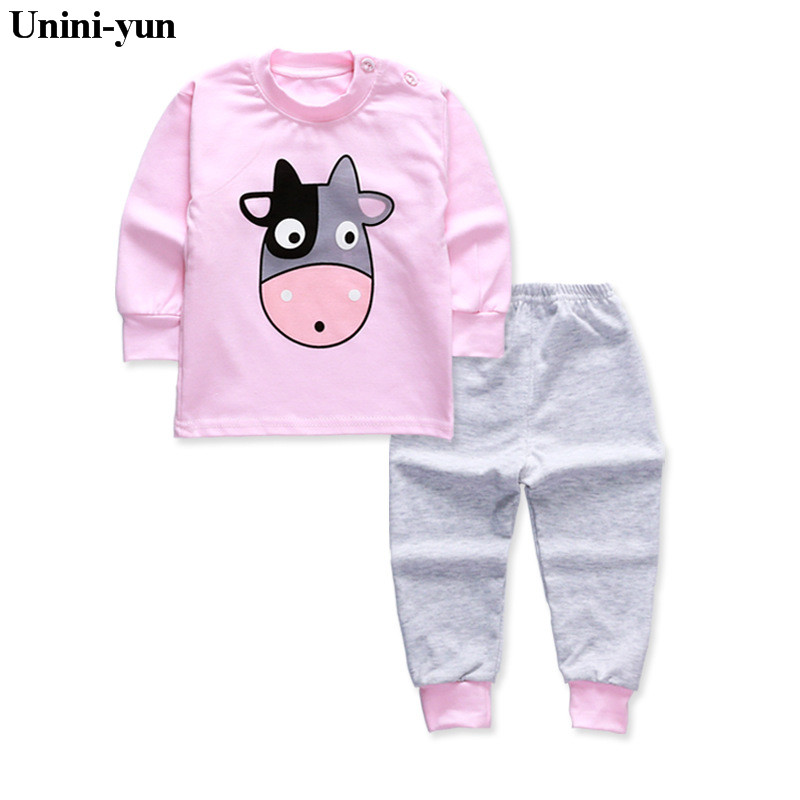 Unini-yun children's clothing sets 2017 new autumn boys Cotton brand long sleeve cow print t shirt + pants cotton Toddler sets gcr15 6326 zz or 6326 2rs 130x280x58mm high precision deep groove ball bearings abec 1 p0