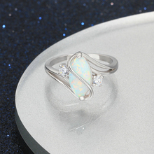 Fire Opal Stone Soild 925 Sterling Silver Ring