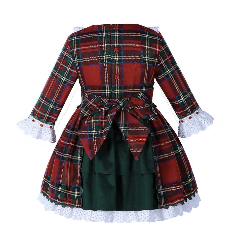 Pettigirl/Эксклюзивные сетчатые платья для девочек с кружевными манжетами; костюмы в стиле ретро с бантом для детей; платья G-DMGD007-B89