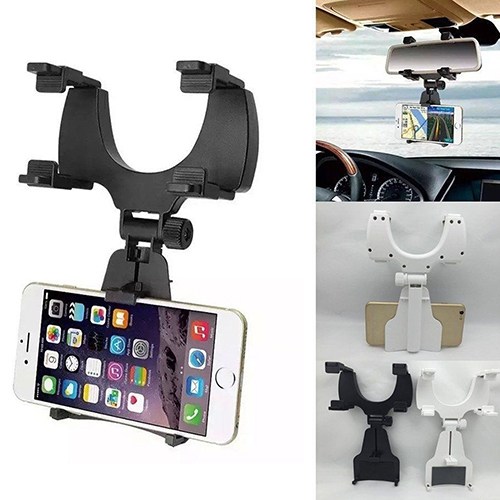 Universal Car Rearview Mirror Mount Holder Stand Cradle Rack for Cell Phone GPS