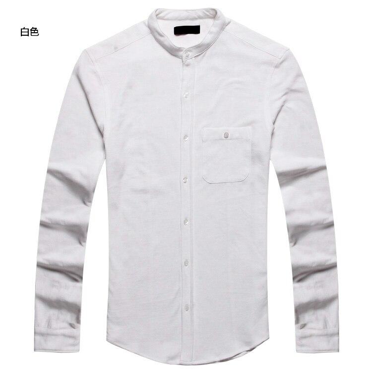 mens shirt cotton long sleeve Casual men Slim Fit Brand Solid dress shirt camisa social masculina Autumn 2016 high quality