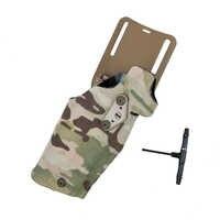 TMC 63DO Tactical Pistol Holster X300 Light-Compatible for G17/18 with QL Mount Holster Panel Adapter Leg Shroud Drop 3029