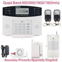 Vendite calde Wireless GSM Sistema di Allarme PIR Sicurezza Domestica Antifurto Sistemi di Allarme Auto Dialer SMS Chiama Spedizione Gratuita