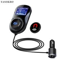 YASOKRO FM เครื่องส่งสัญญาณ Modulator BC30 แฮนด์ฟรี Bluetooth Car Kit รองรับ TF Card MP3 เล่นรถอะแดปเตอร์เสียง 3.1A Car Charger