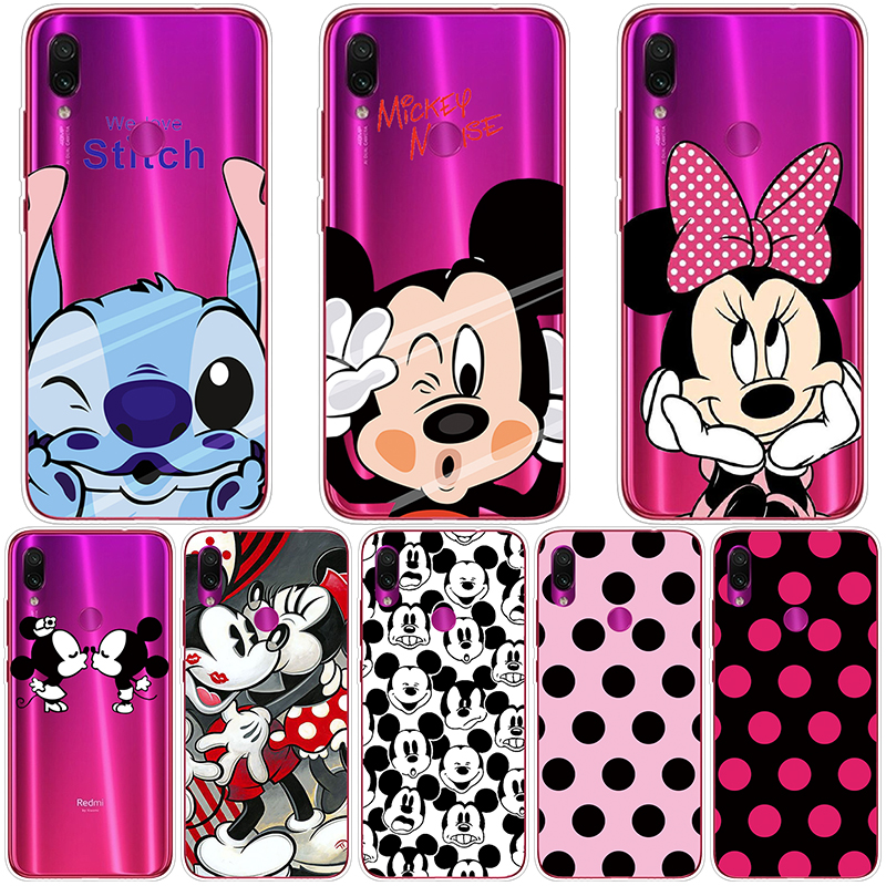 Cartoon Couple 6.3 Inch Case For Coque Xiaomi Redmi Note7 Minnie Mickey Stitch TPU Soft For Redmi Note 7 Pro Cover Silicone Case