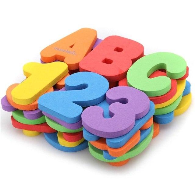 Новое Прибытие 26 письма + 9 цифровой Зеленый Материалов EVA Пазлы Дети Раннего Образования Игрушки Подарок Ребенку