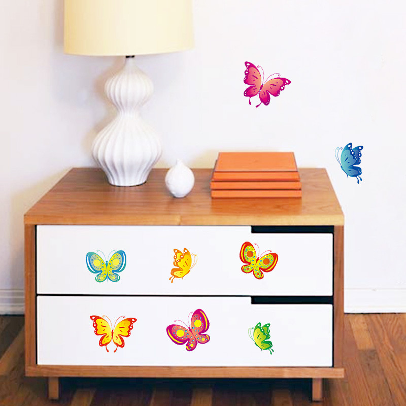 Diy Wall Stickers Home Decor Flying Butterfly Kitchen Window Glass Bathroom Decals Decorative Kids Room Poster