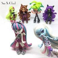 6 Pcs Set 10 12cm Monster Mini Doll Nendoroid Wizard PVC Action Figures Decoration Girls Toy