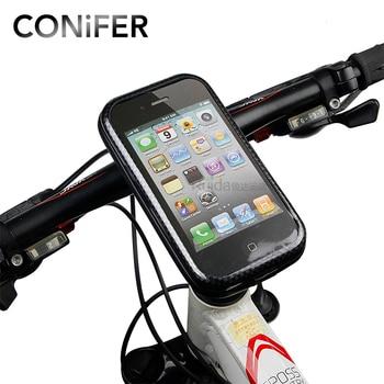 Bike Bicycle Phone Bag Rainproof TPU Touch Screen Cell Phone Holder Bicycle Handlebar Bags MTB Frame Pouch Bag 2017 Conifer V10 pochette étanche pour téléphone