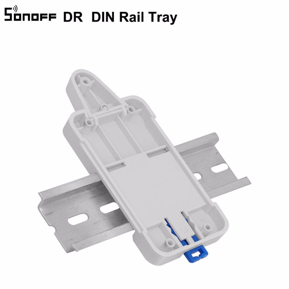 Nice Sonoff Dr Din Rail Tray Itead Adjustable Mounted Rail Case Holder Solution For Sonoff Switch Mounted Onto The Guide Track Kit Security & Protection