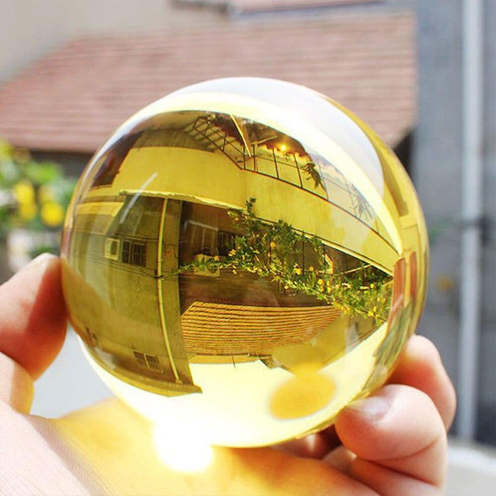 40mm globo esfera bola de cristal Feng Shui bola de cristal regalos para el hogar artesanías boda embellecer la moda 6 unids/lote atrapasoles de cristal Feng Shui prismas colgante péndulo colgante decoración de ventana 20mm