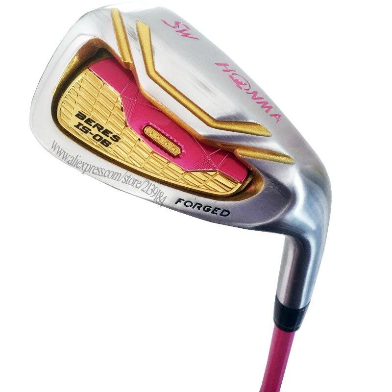 New Women Golf Clubs HONMA S-06 Golf Irons Set 5-91011 A S GRAND Irons Clubs Set R300 Steel Golf Shaft Cooyute Free Shipping