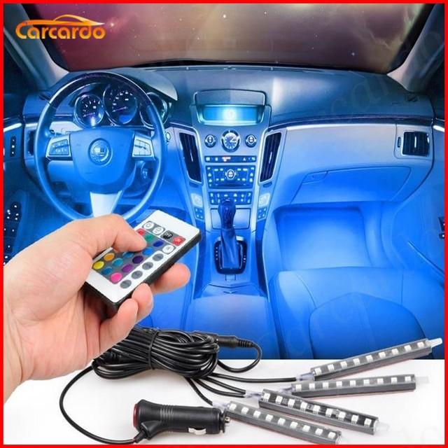 2017 New! Car Interior LED Atmosphere Neon Light Lamp LED Wireless ...