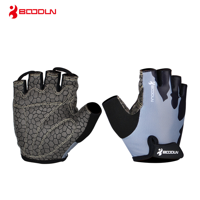 Boodun Brand 2018 New Women's Fitness Weight Lifting Gloves Men Spring Half Finger Outdoor Sports Gym Breathable Non-slip Glove