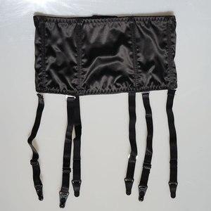 Image 3 - Black Satin Garter Belt Removable Wide Straps Metal Buckles/Clips Suspender Belt for Stocking Waist Trainer Sexy Lingerie S507B