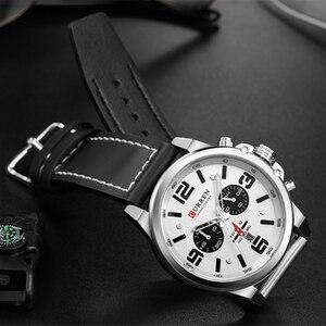 Image 5 - Nieuwste 2018 Mannen Horloges Curren Topmerk Luxe Quartz Heren Horloges Lederen Militaire Datum Mannelijke Klok Relogio Masculino