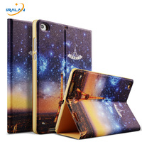 Luxury Ultra Thin PU Leather Smart Case For Xiaomi Mipad 2 Tablet PC Painted Cartoon Pattern